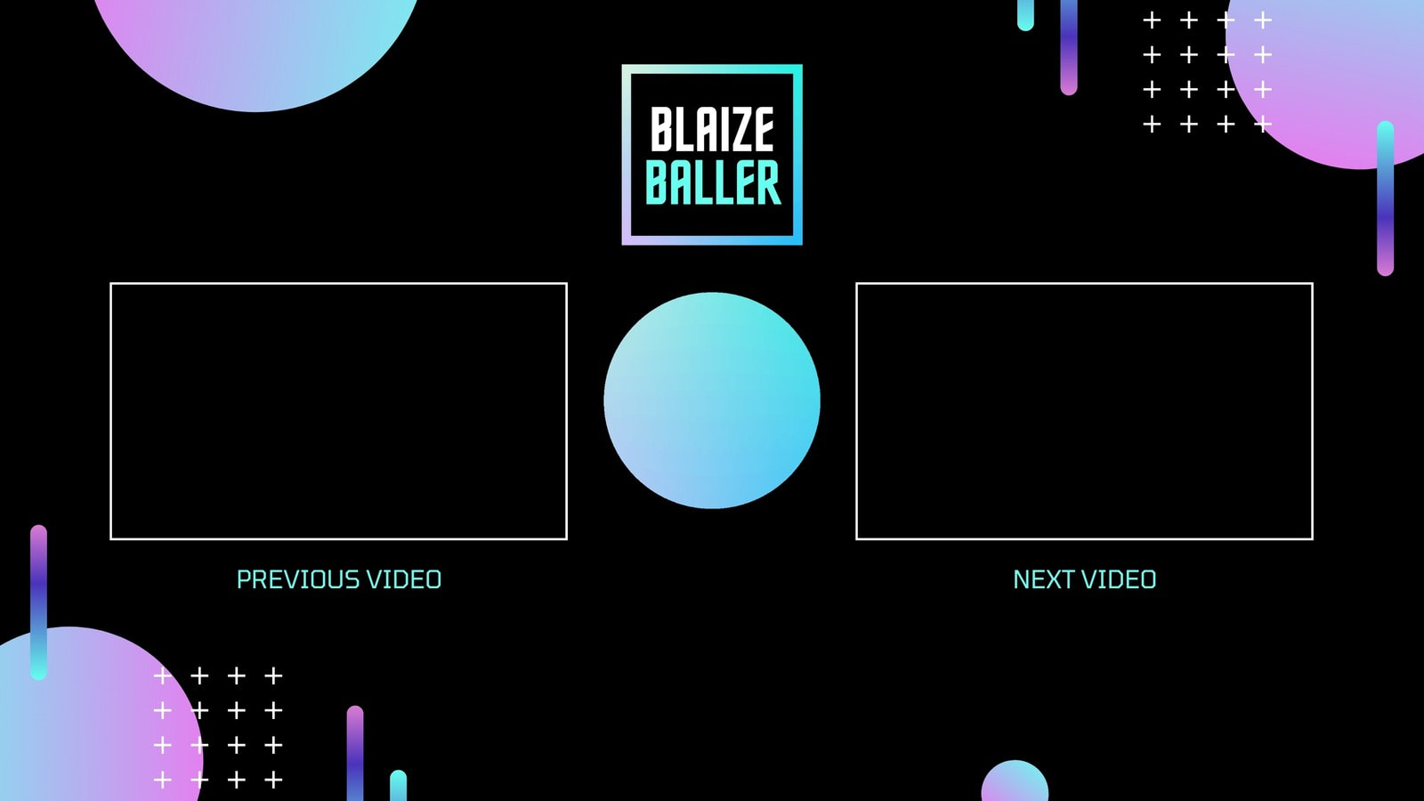 Black Purple and Cyan Neon Noir / Vaporwave Sports YouTube Outro
