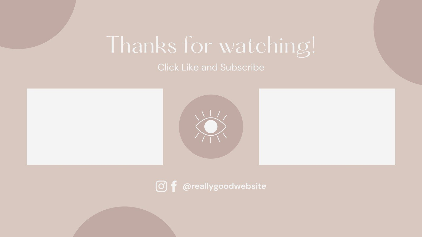 Brown and White Delicate Modern Makeup YouTube Outro