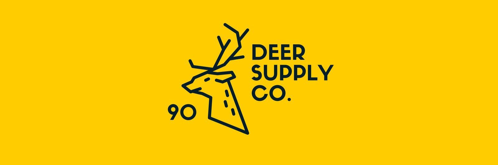 Yellow Illustrated Deer Twitter Header