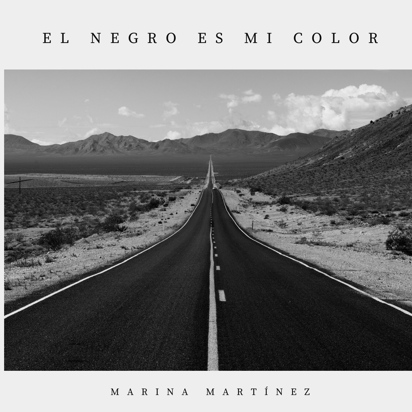 Negro Blanco Carretera Foto Música Álbum Portada
