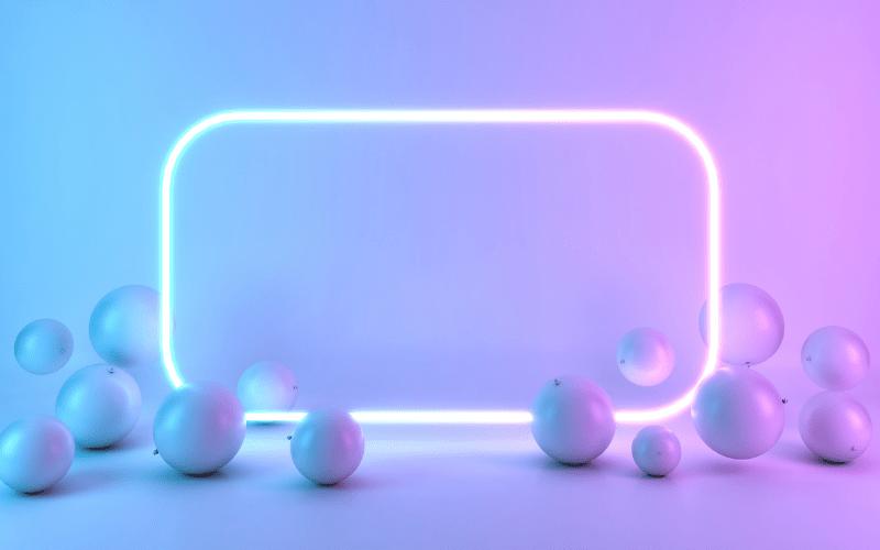 неоновая рамка онлайн