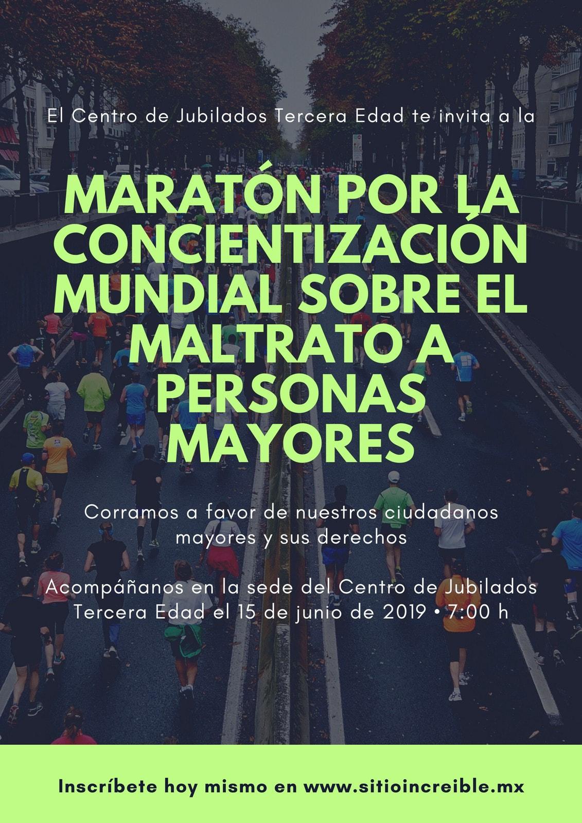 Verde Foto Día Mundial de Concientización sobre el Maltrato a Personas Mayores Póster