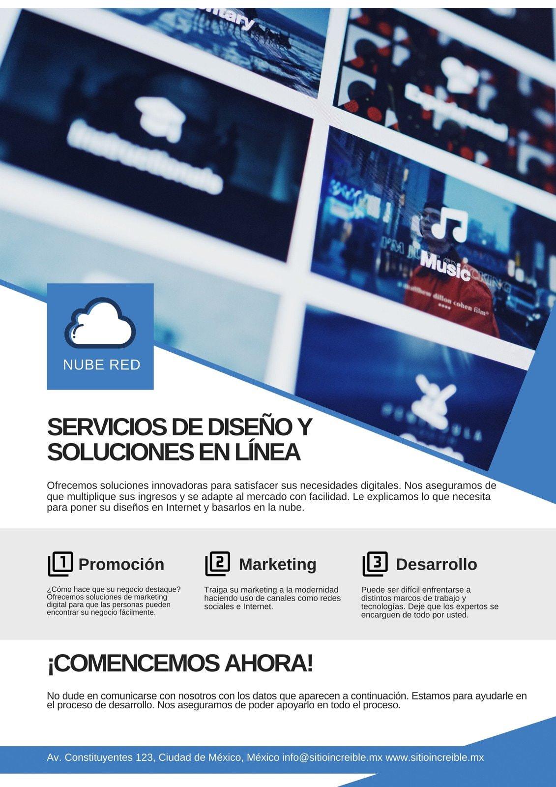 Web Diseño Servicios Promocional Publicitario Póster