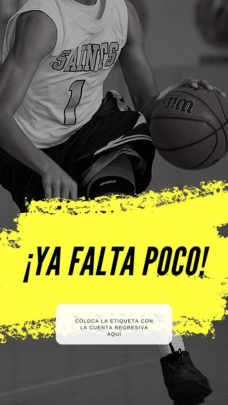 Amarillo Cuenta Regresiva de las Eliminatorias de Básquetbol Historia de Instagram
