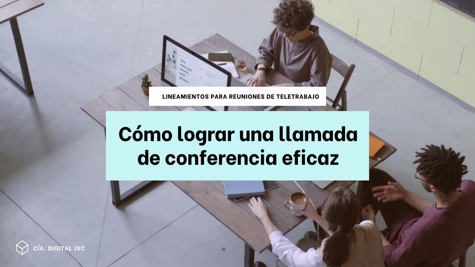 Azul Claro y Blanco Empresas/Teletrabajo Video de 16:9
