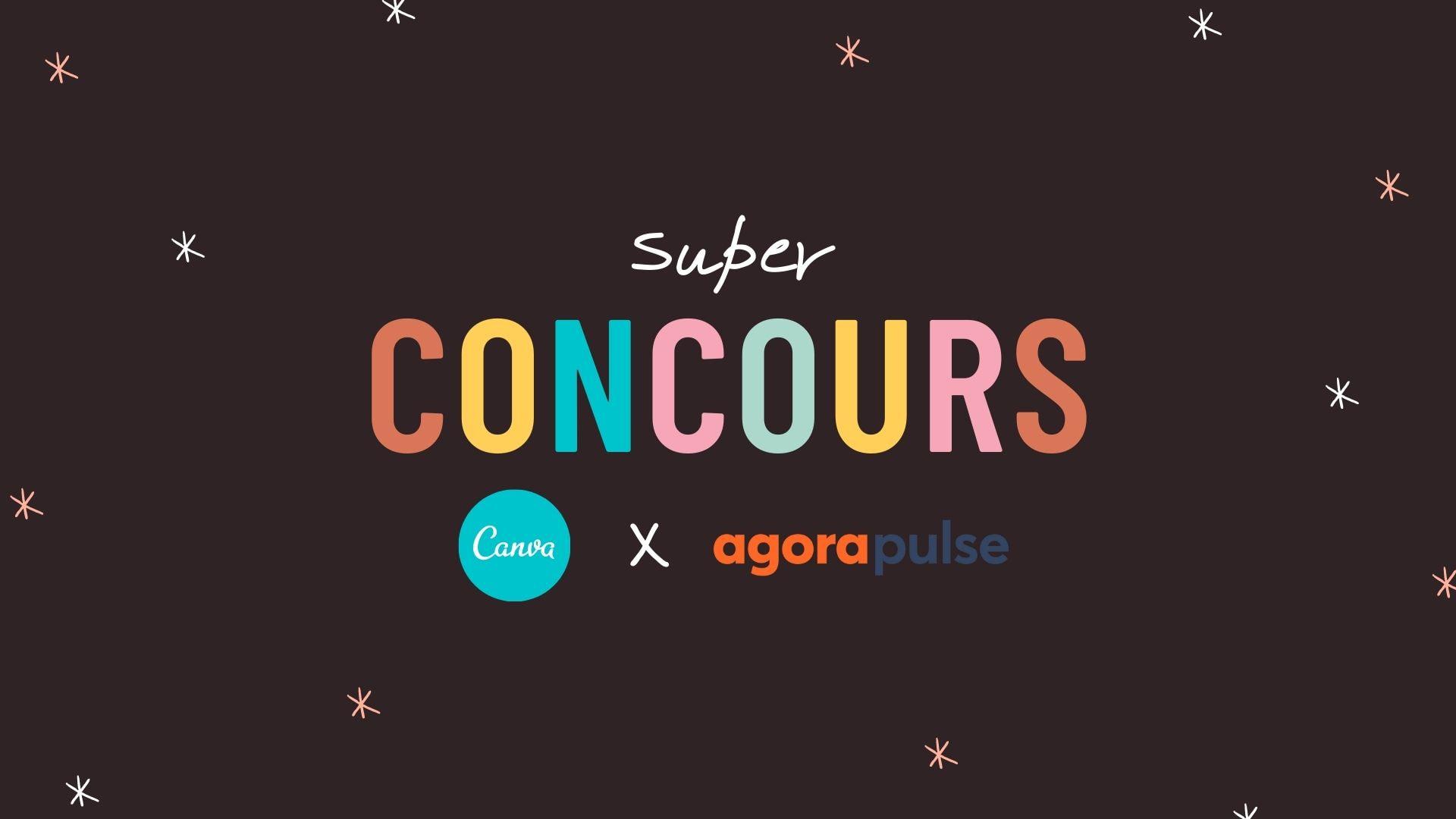 concours, Canva Agorapulse