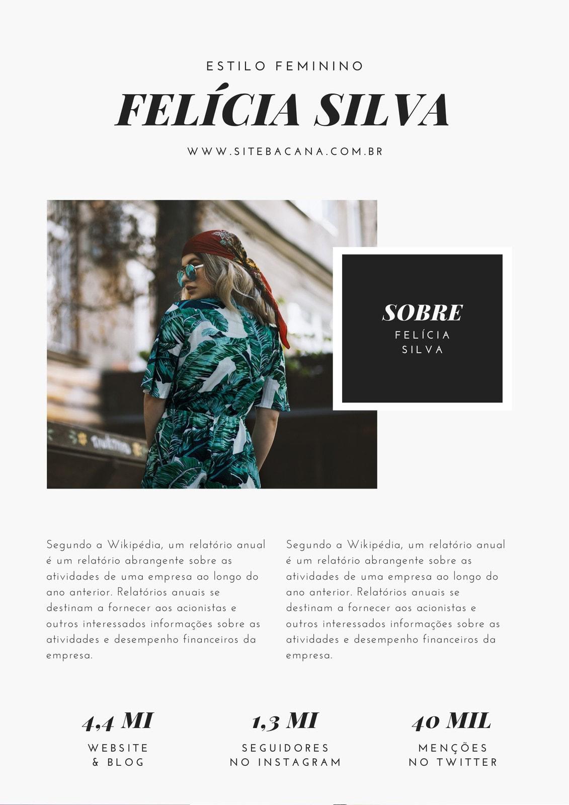 Cinza Claro e Preto Chique Moderno Minimalista Moda Kit de Mídia