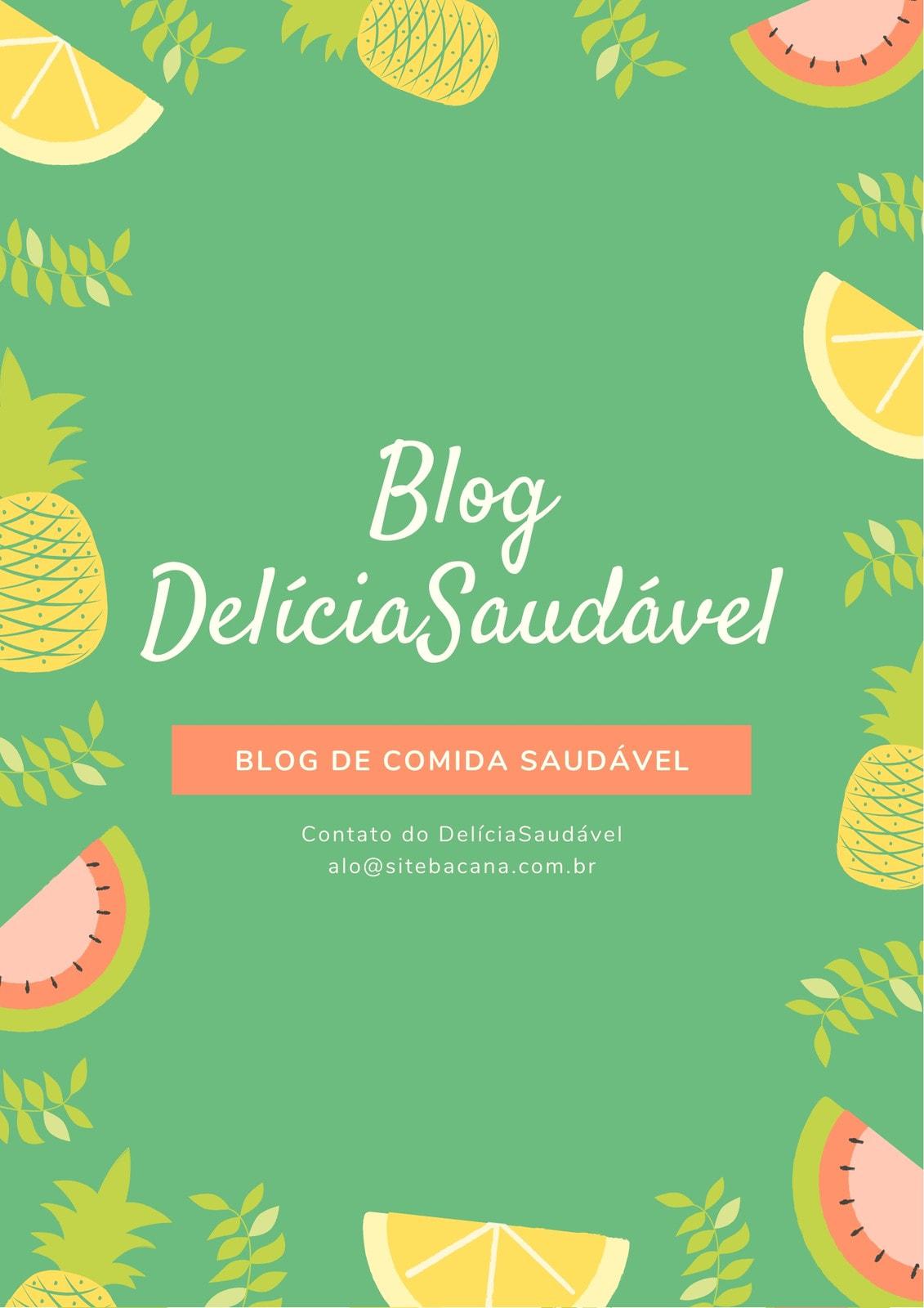 Verde Amarelo Coral Frutas Blogueira Saudável Geral Press Kit