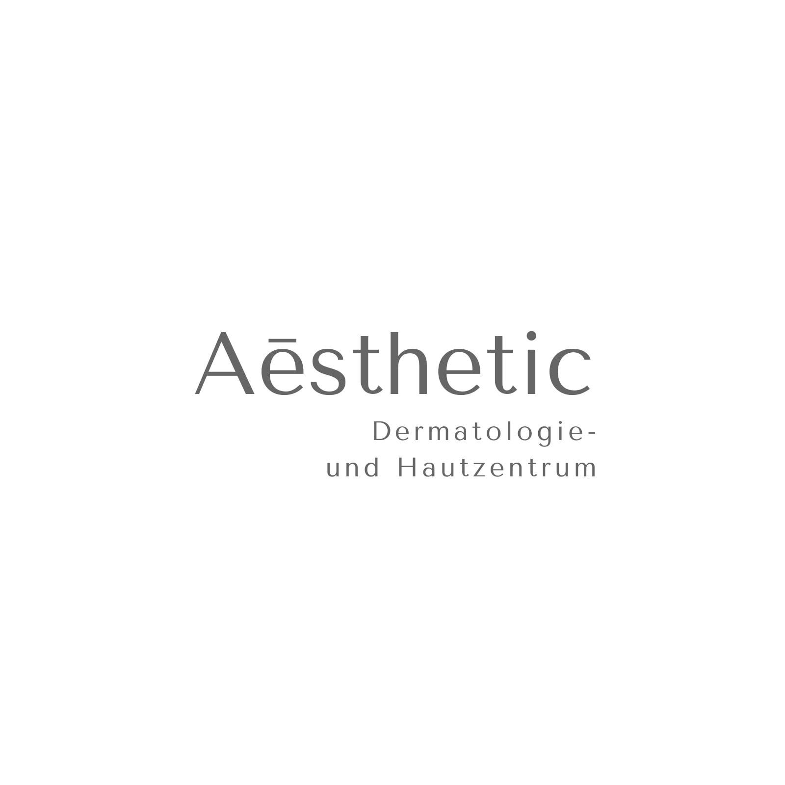 Weiß und grau modern Aēsthetic Schönheit Logo