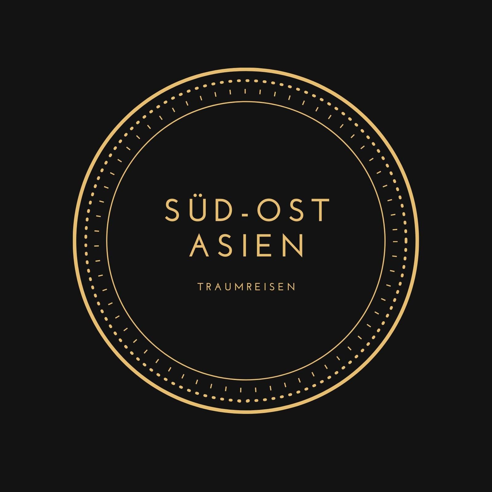 Schwarz und Gold Kreis Immobilien Logo