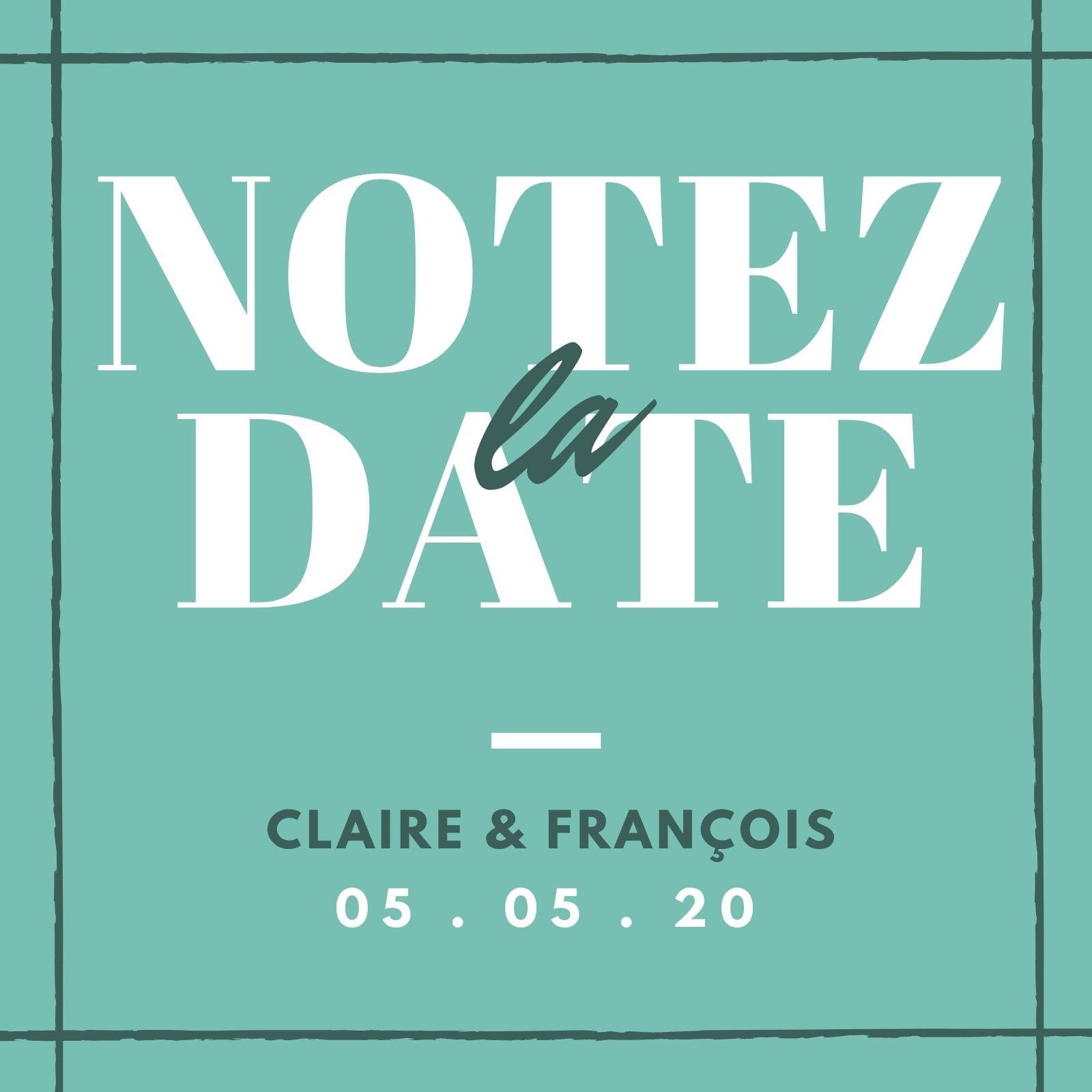 Simple Réservez la date Invitation