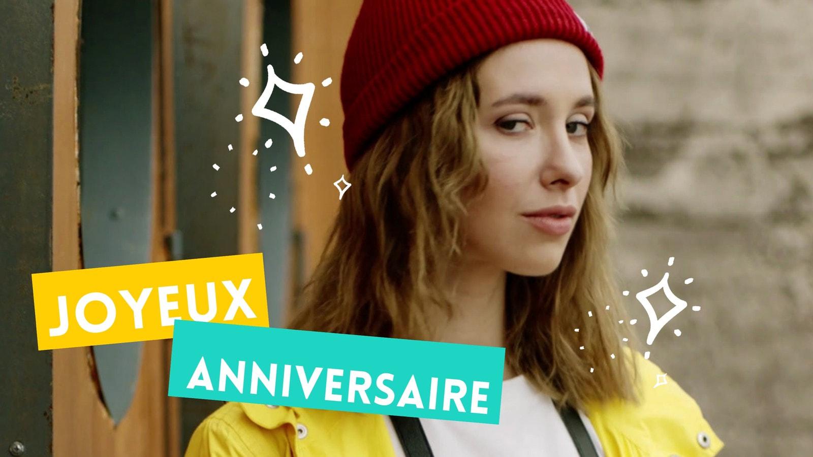Jaune et Vert Étincelles Anniversaire Célébration 16/9 Vidéo
