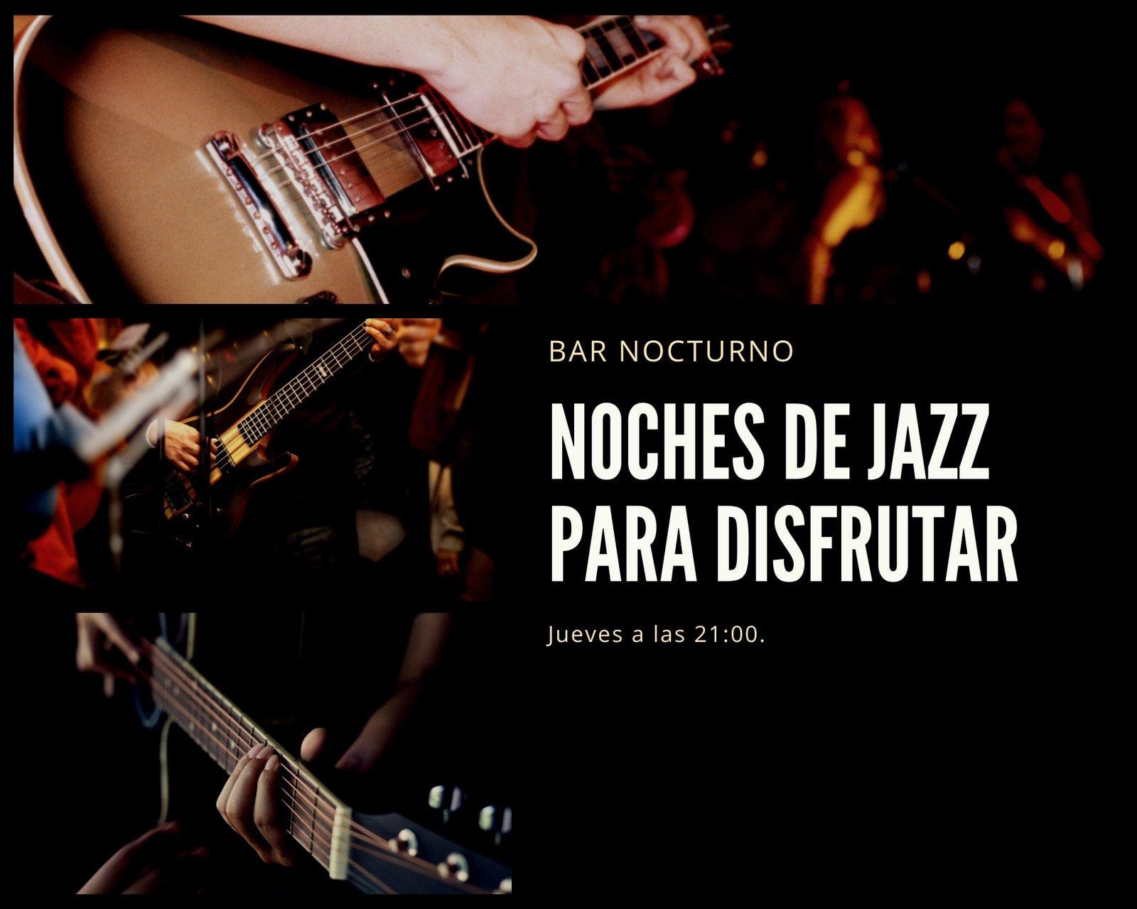 Negro Blanco Foto Música Jazz Evento Collage de Fotos