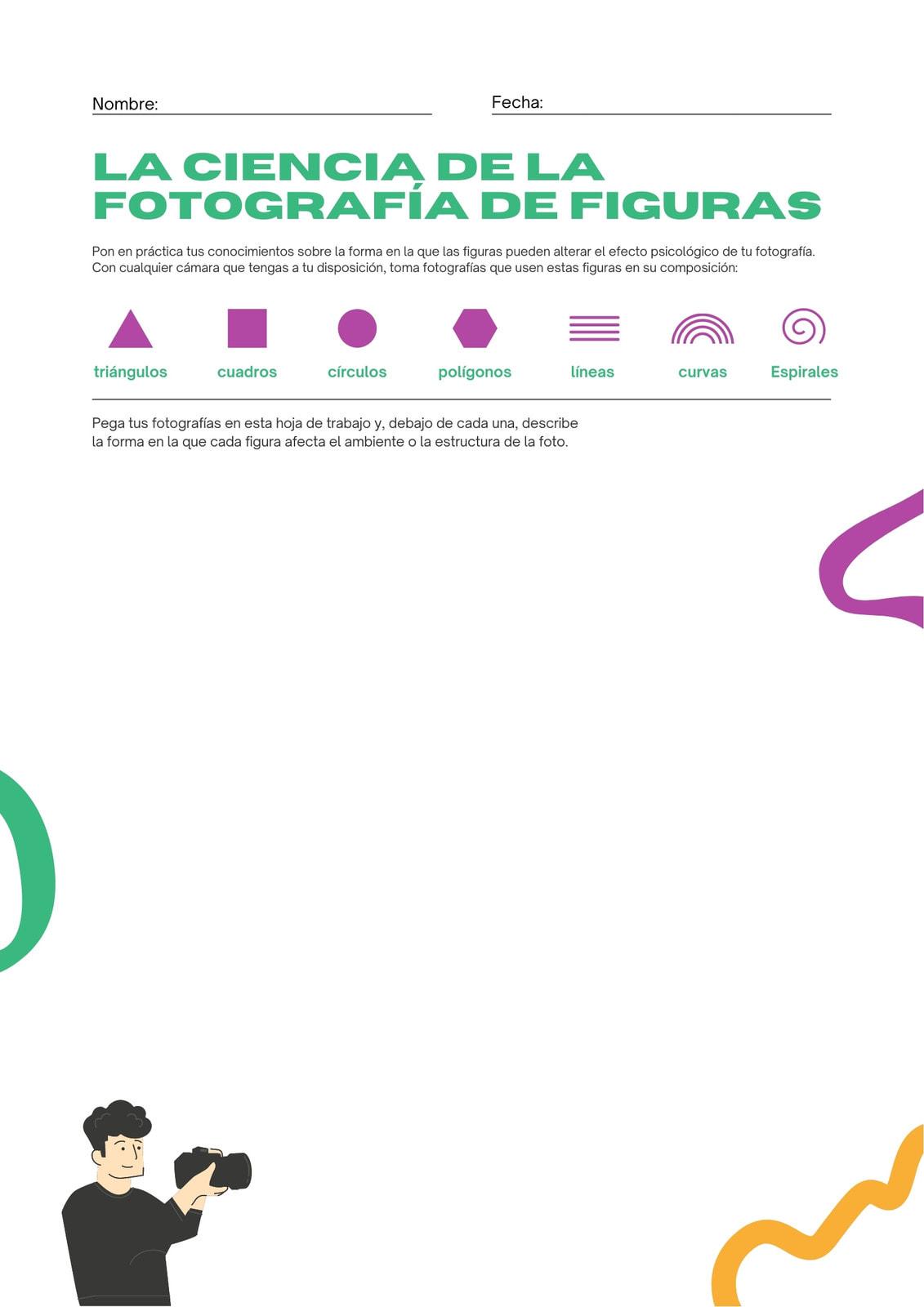 Verde y Morado Plano Fotografía Ciencia de las Figuras Artes Visuales Hoja de Trabajo