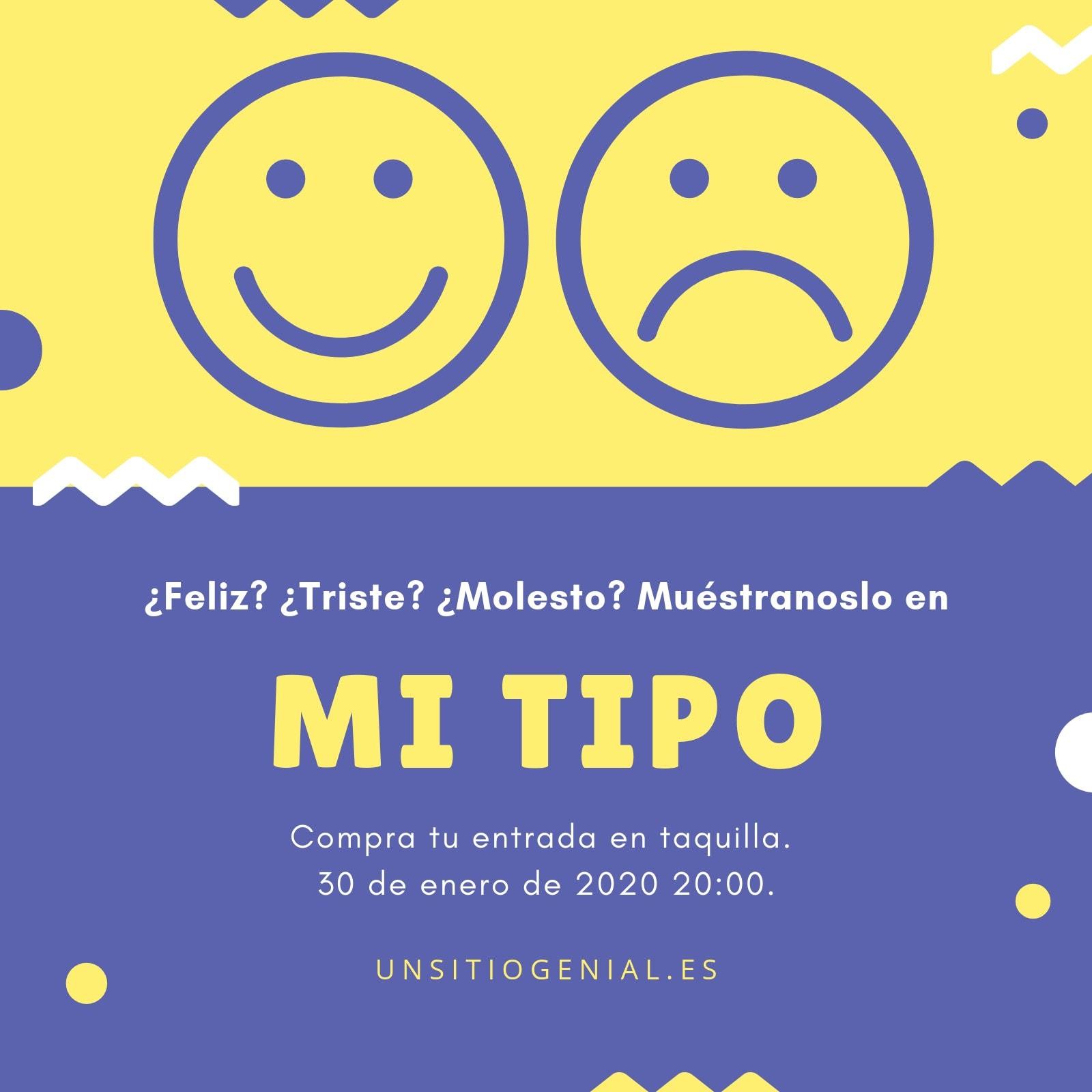 Violeta Amarillo Emoticonos Fiesta Invitación