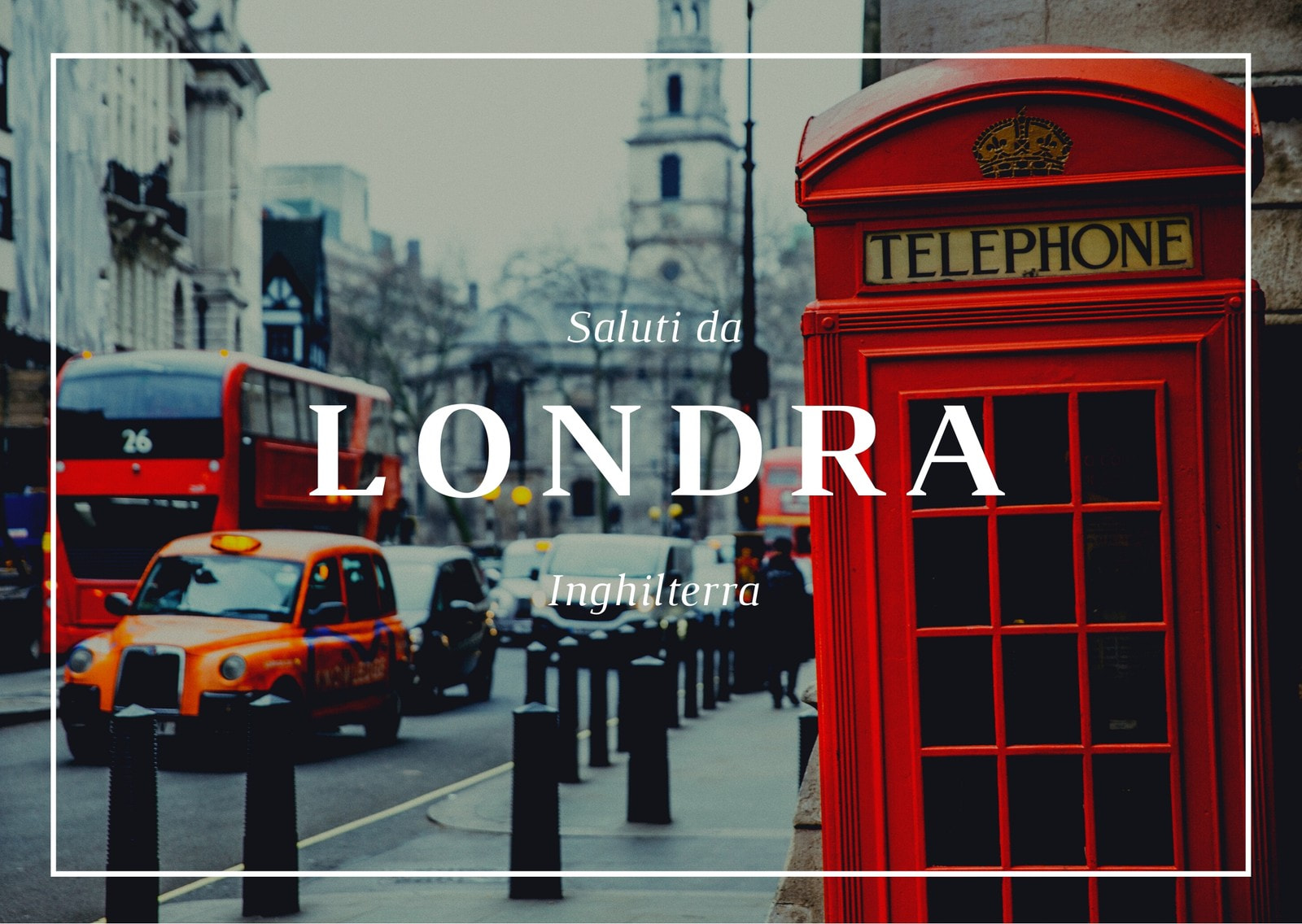 Rosso Londra Cabina Telefonica Immagine Cartolina