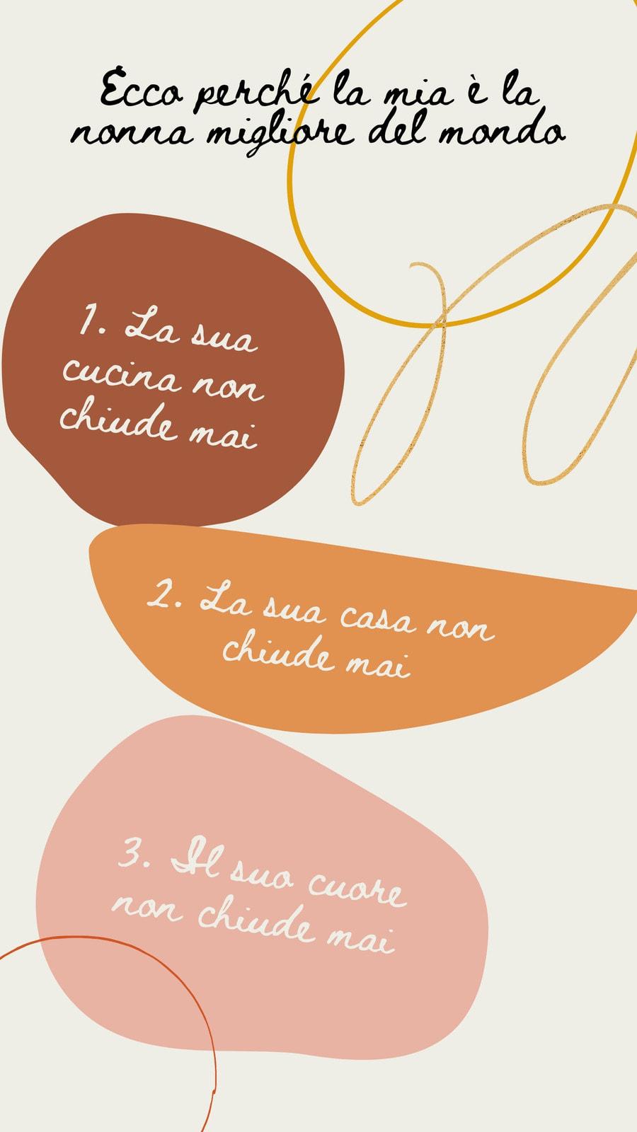 Beige marrone e rosa story per social media festa dei nonni minimalista con decorazioni astratte