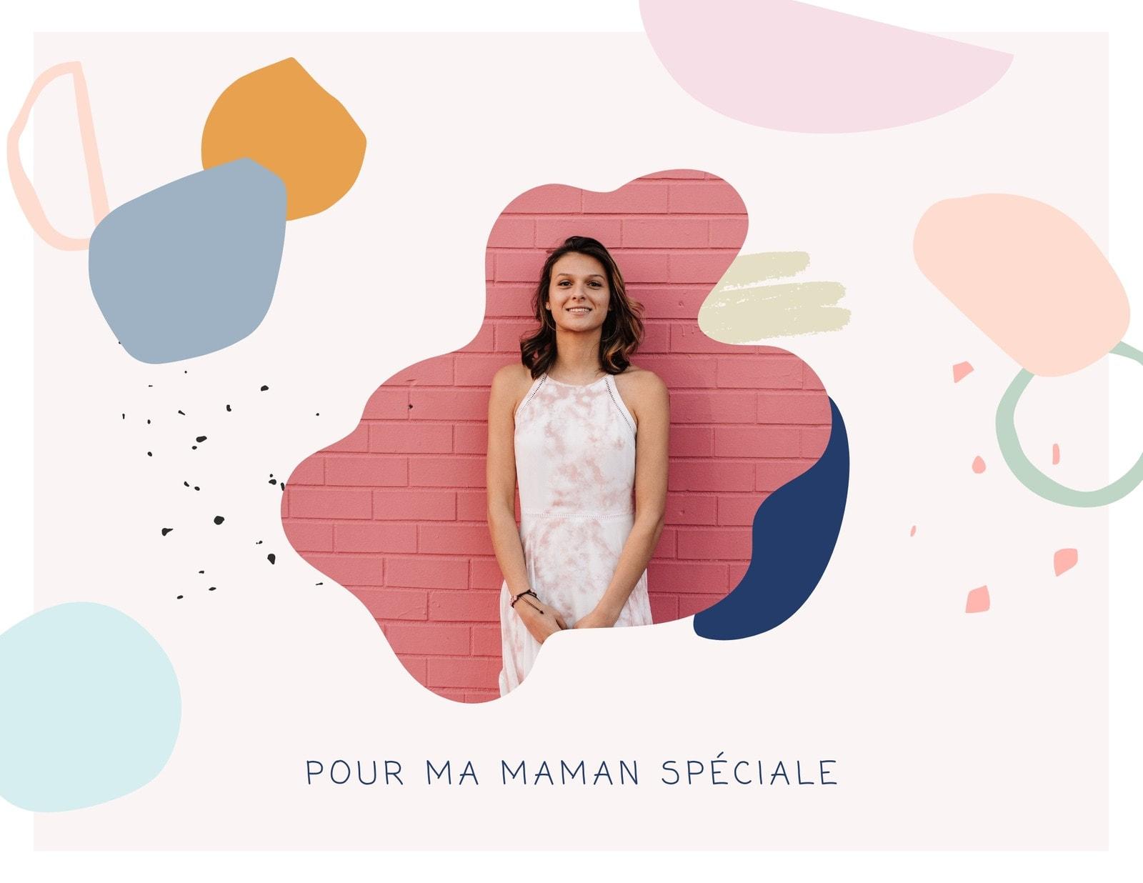 Coloré Goutte Mignon et Amical Famille Fête des mères Photo Livre