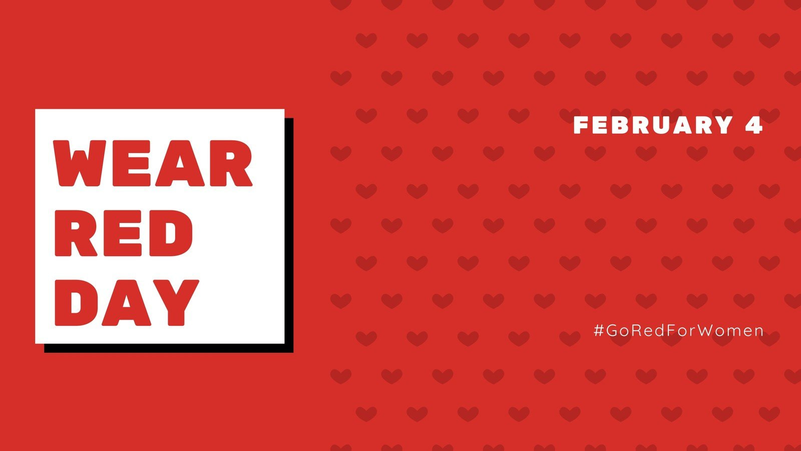 Red Boxes National Wear Red Day Heart Facebook Event Cover