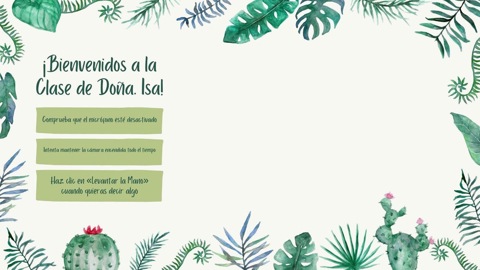 Suculentas y Cactus Fondo Virtual para Zoom