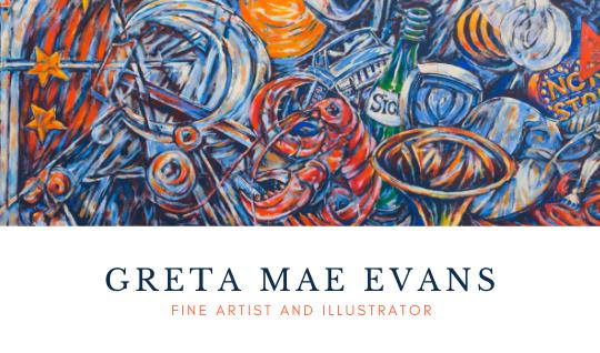 Visitkort för konstnär