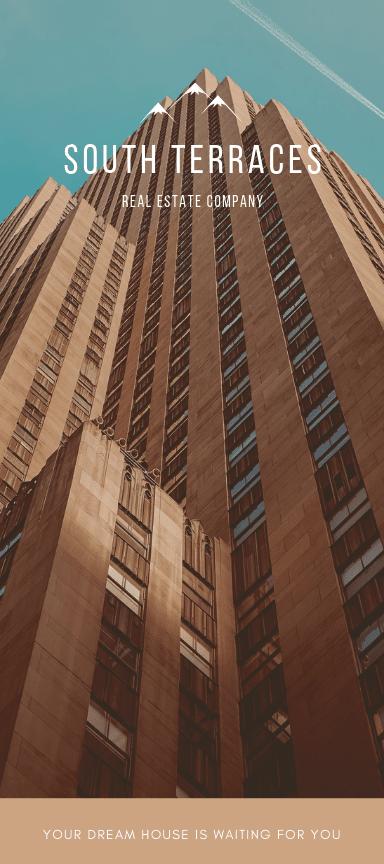 Flyers publicitarios verticales para bienes raíces