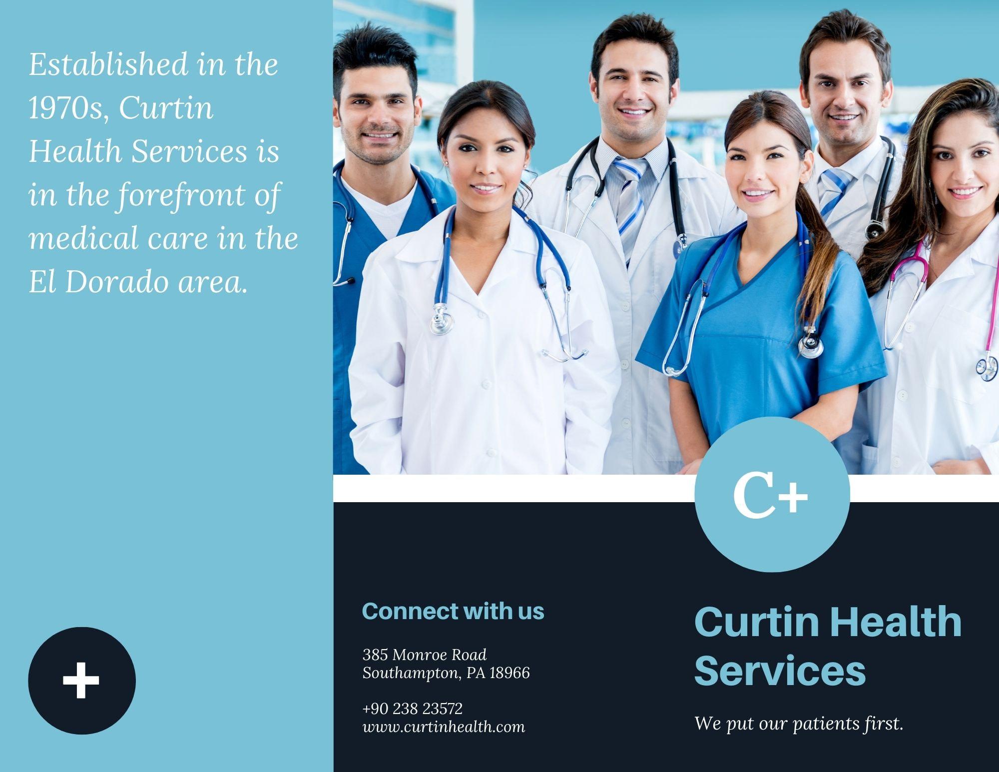 Brochures à trois volets sur le thème de la médecine