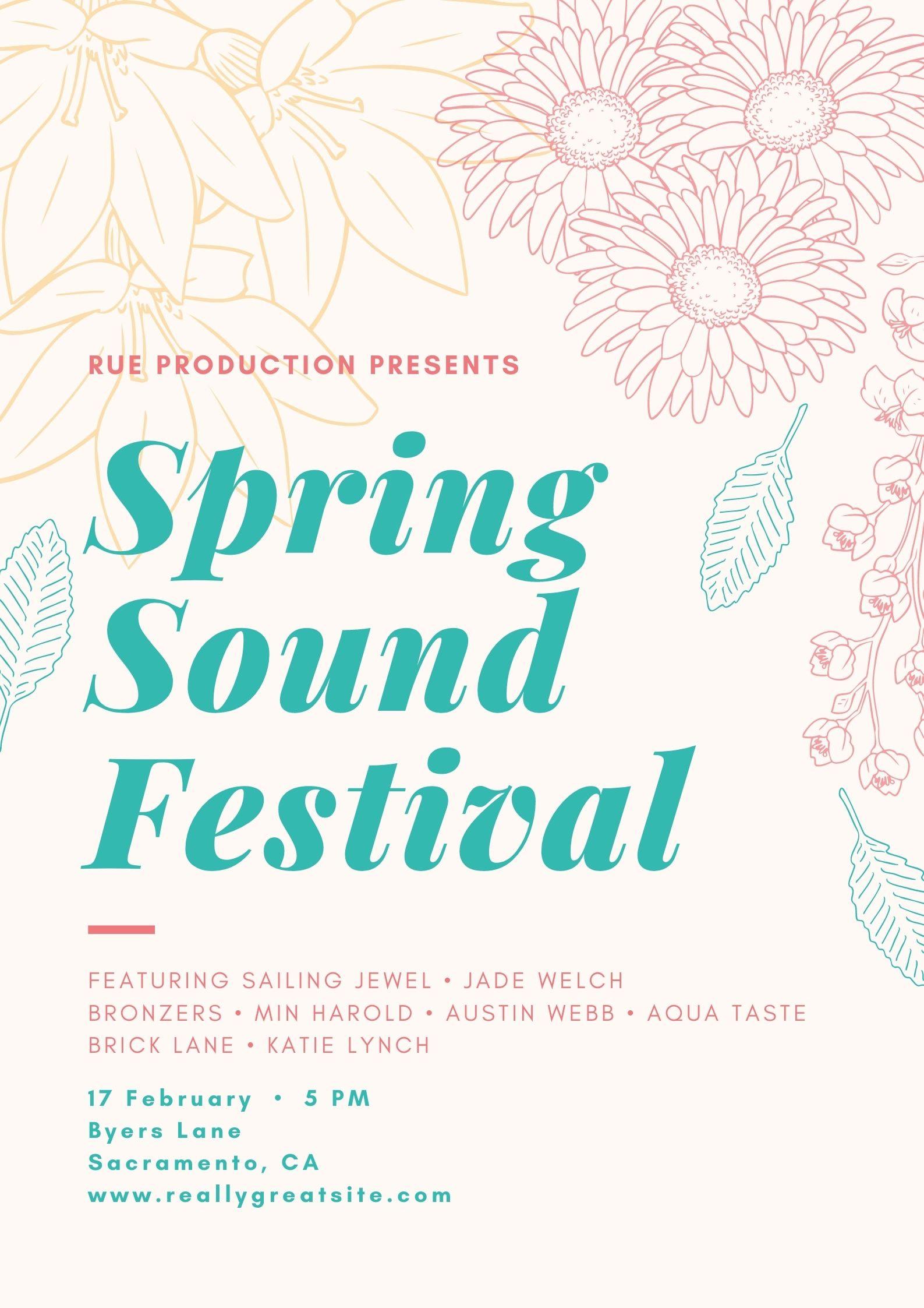 Poster Acara Musik