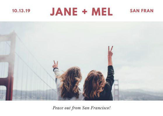 Туристические почтовые открытки