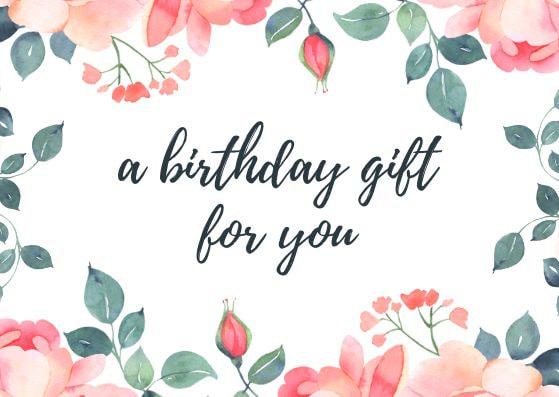 Tarjeta de regalo para cumpleaños