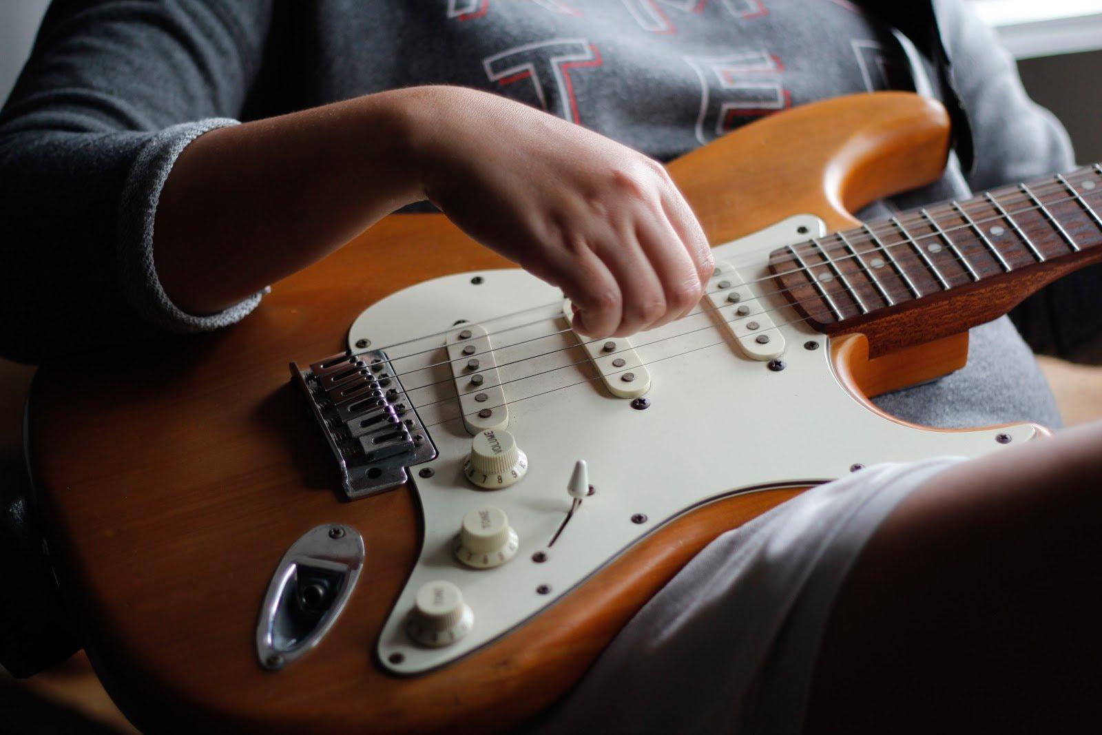 Female guitarist