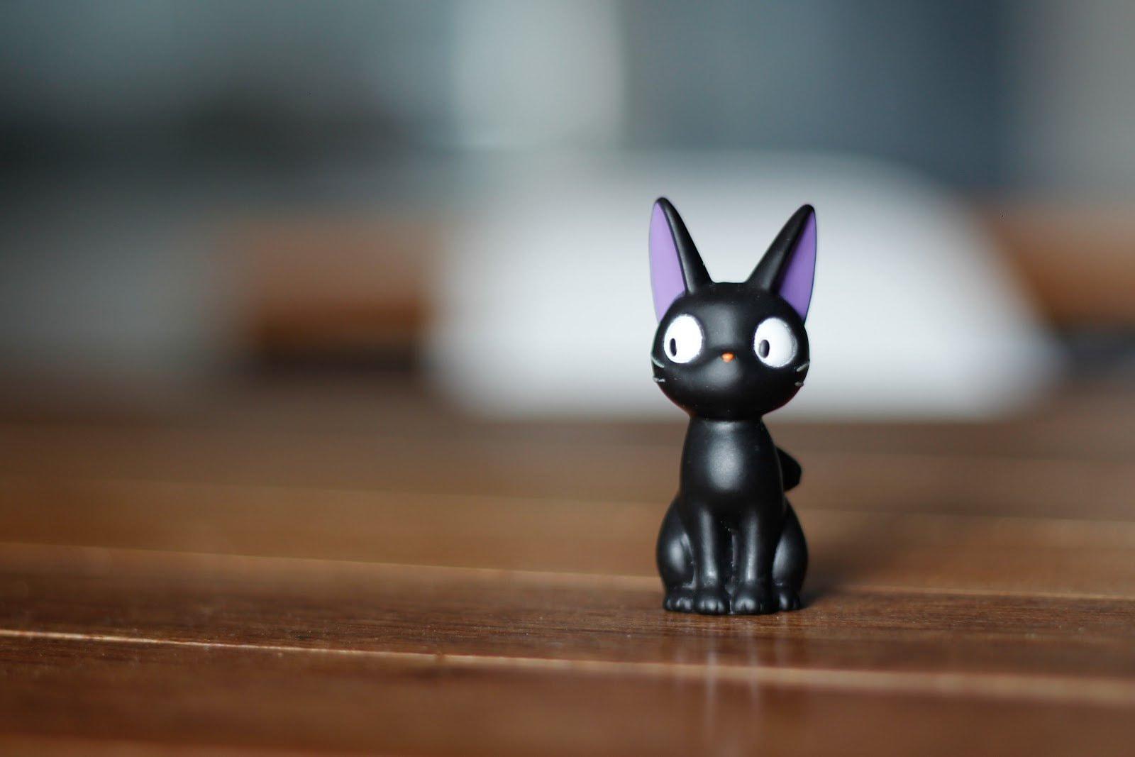 Black toy cat