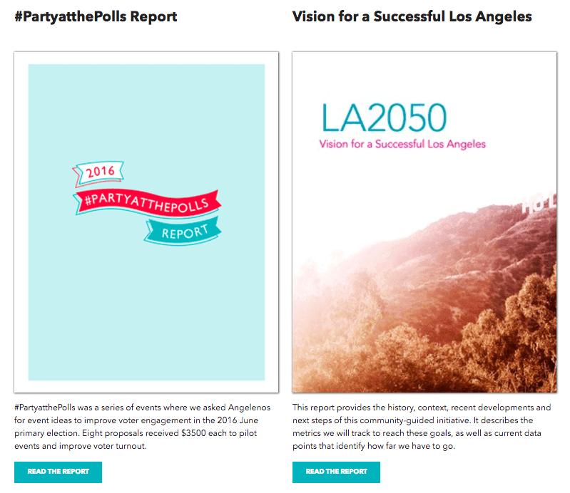 LA2050 reports