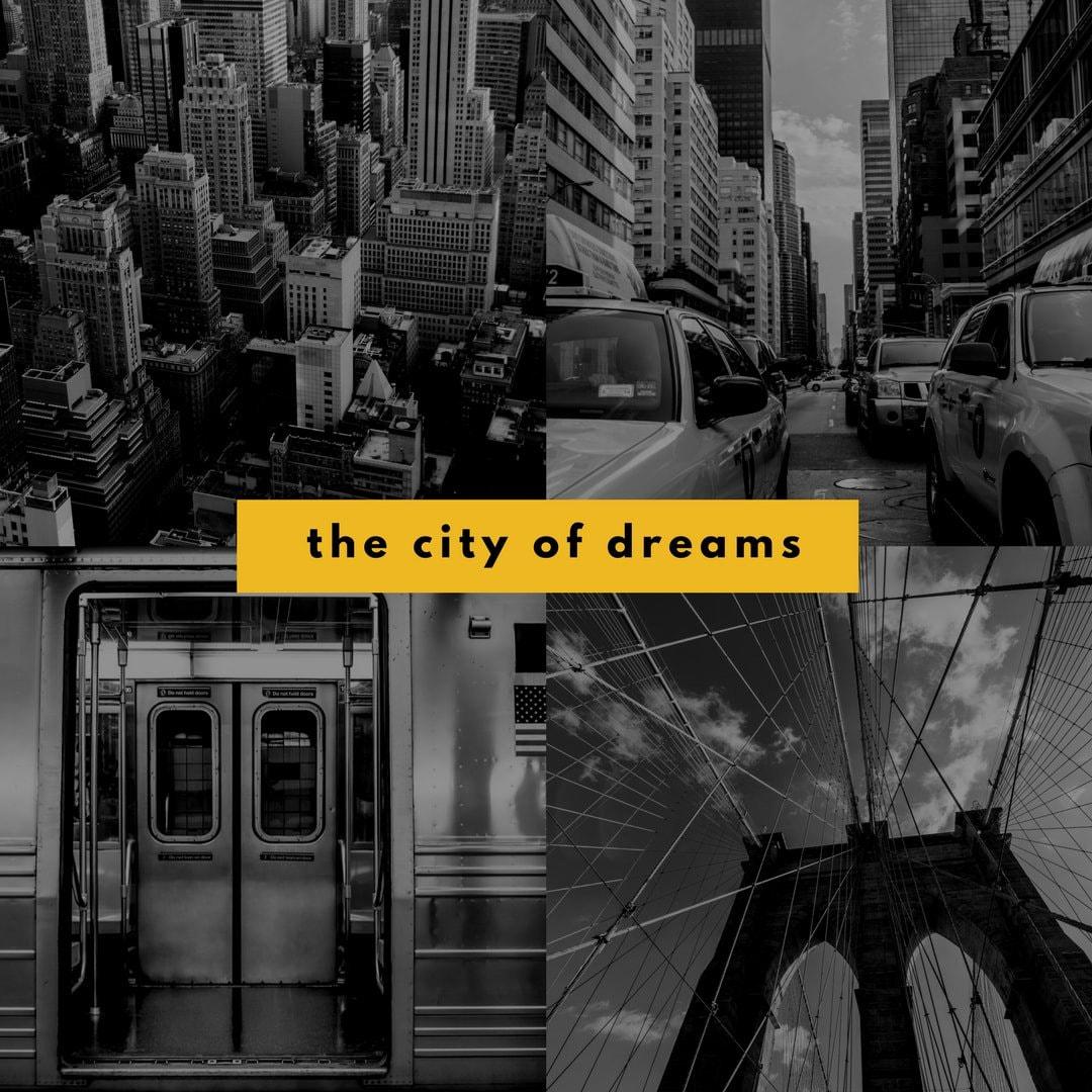 Yellow Black New York City Photo Collage Instagram