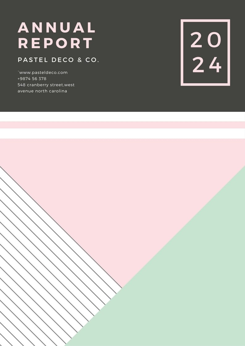 Pastel Geometric Annual Report