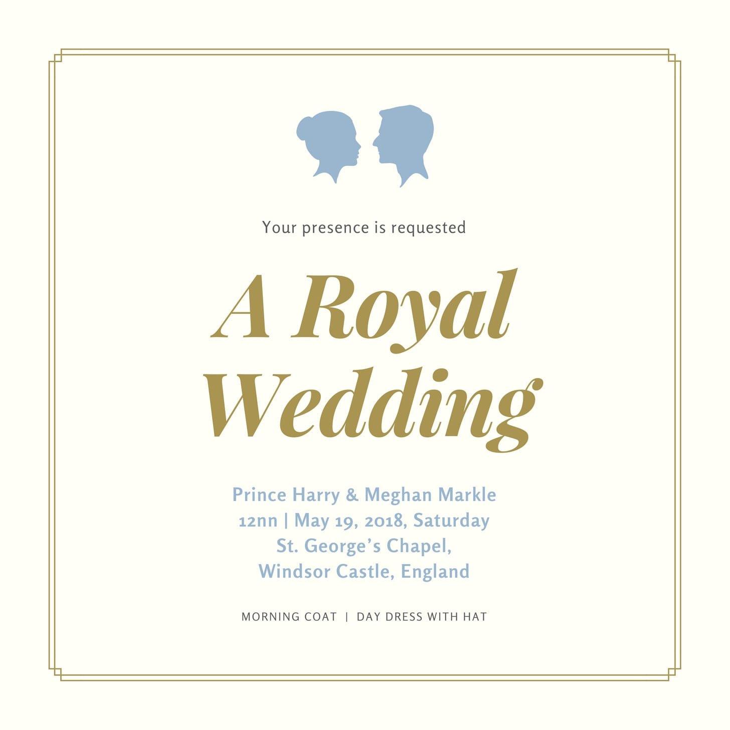 Gold and Cream Elegant Wedding Invitation (1)