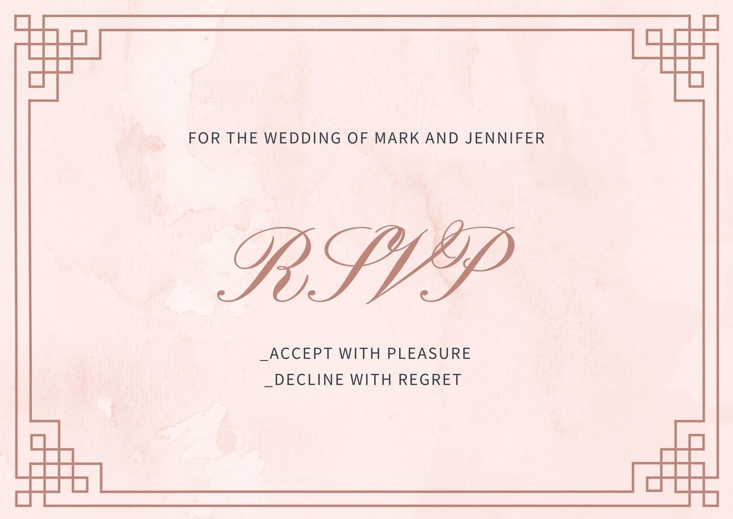 Pink Royal Wedding Invitation Remix