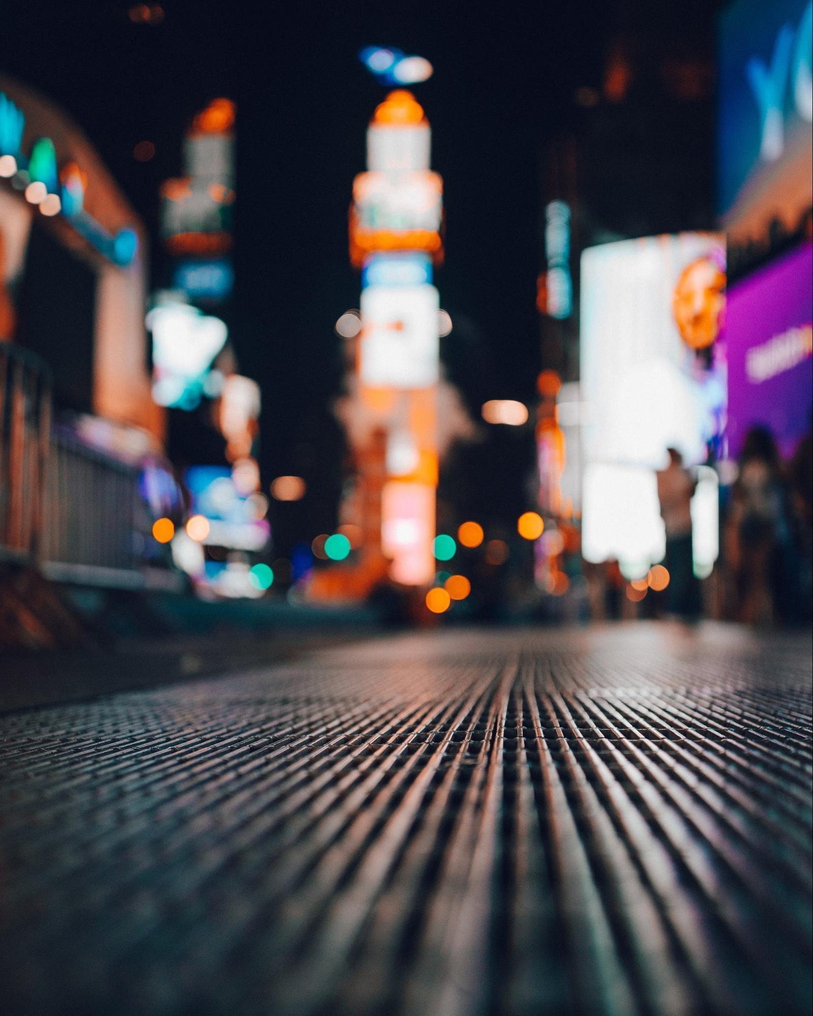 City lights background bokeh
