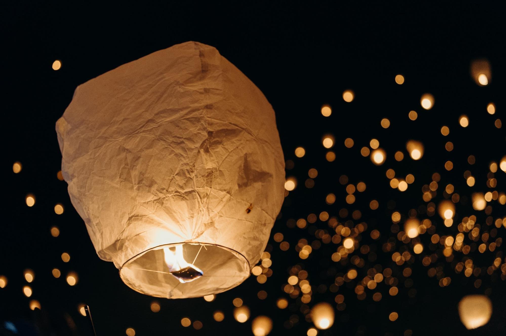 Lanterns bokeh AV Mode