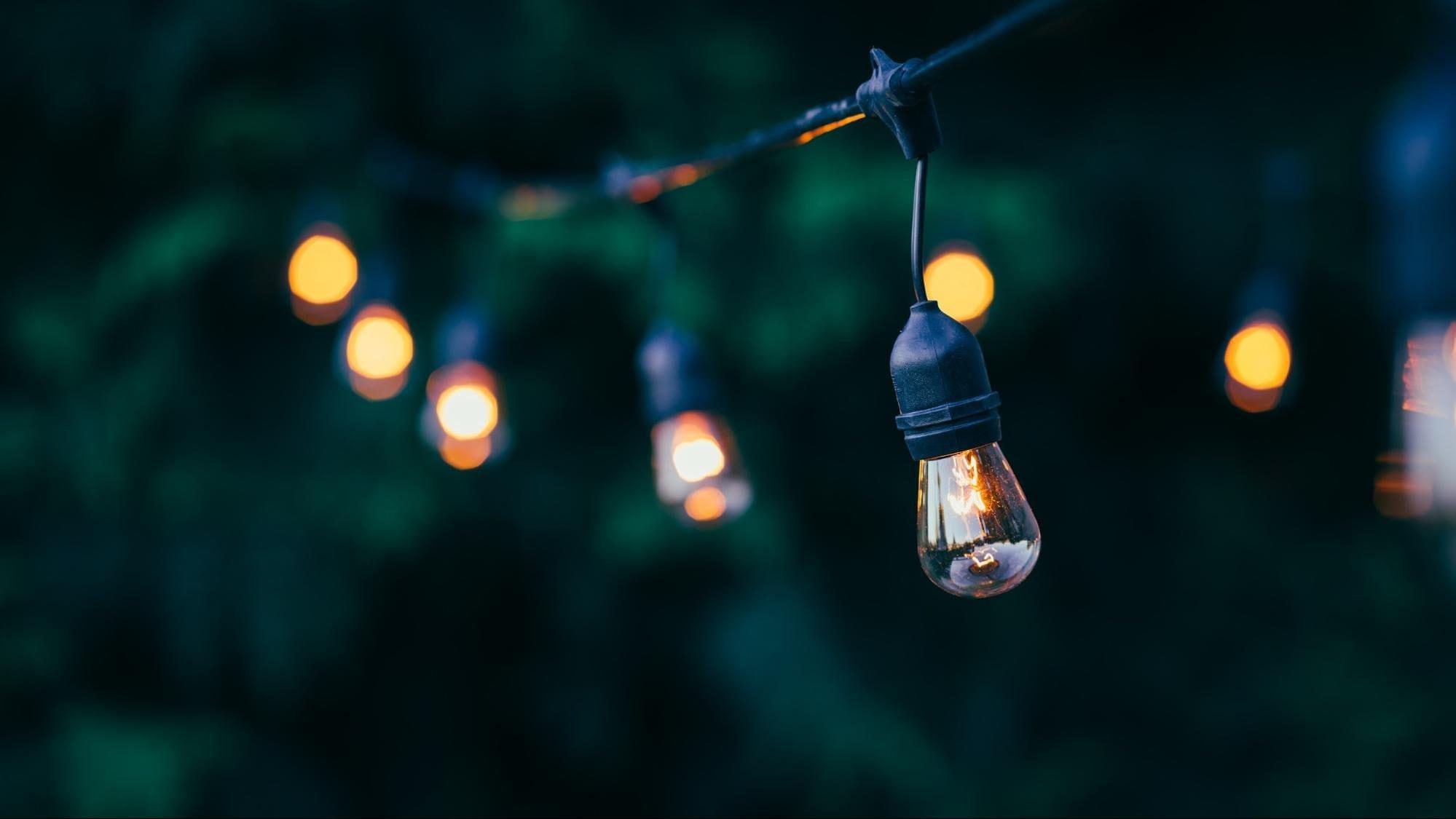 Outdoor light bulbs bokeh