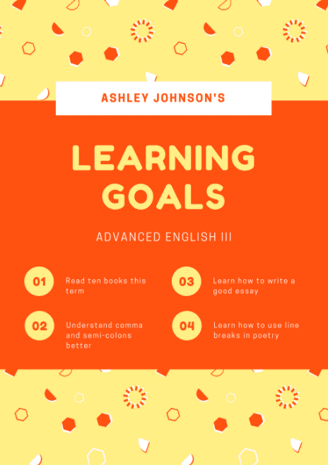 Learning Goals Poster