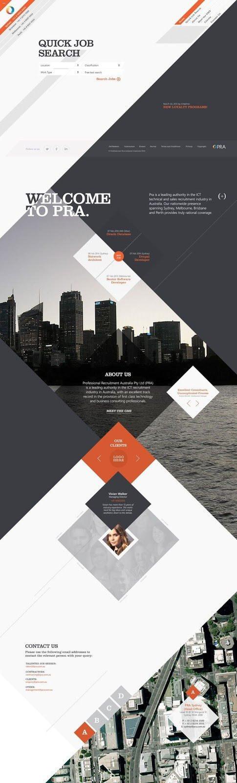 PRA Website Design