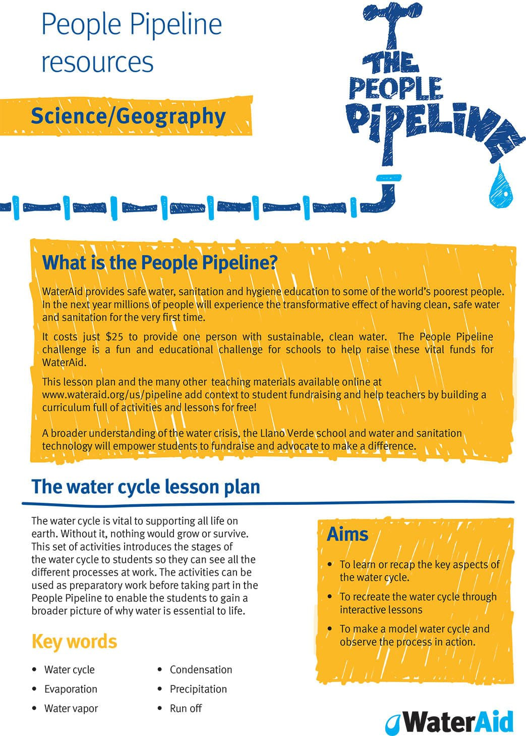 Pupil Pipeline resources: Science/Geography
