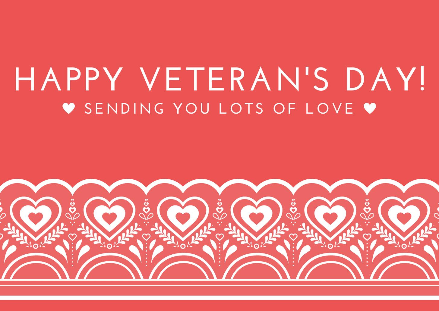 Happy Veteran's Day template