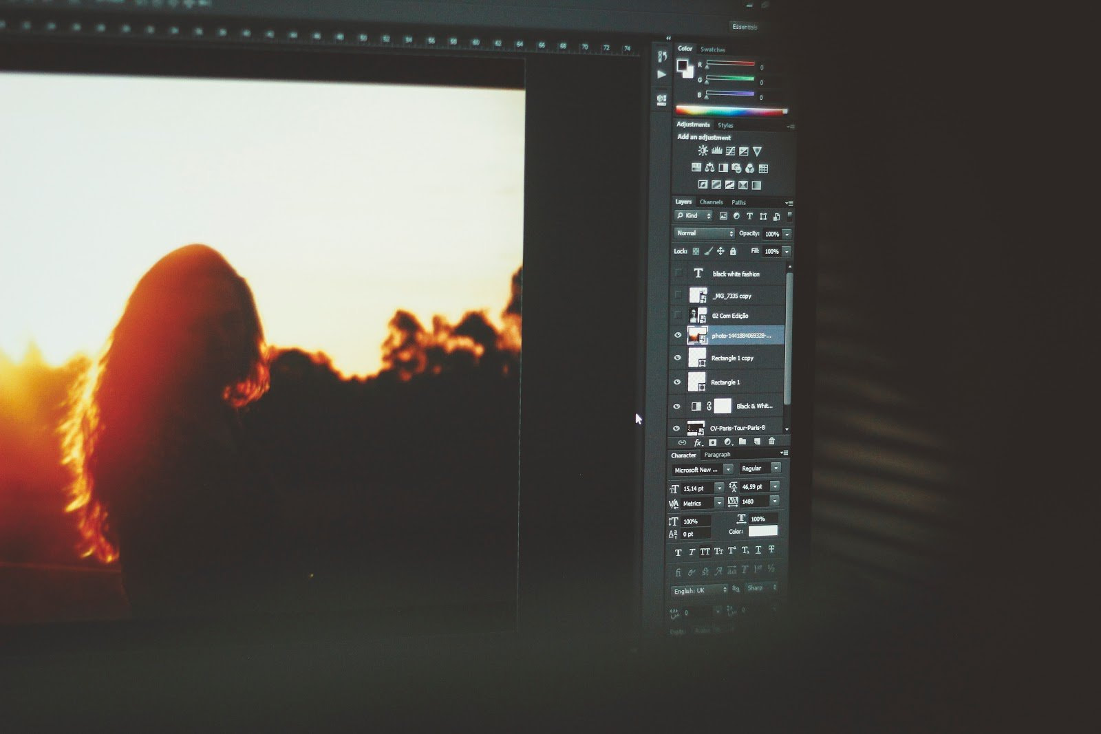 Photo being post processed digitally by Joao Silas