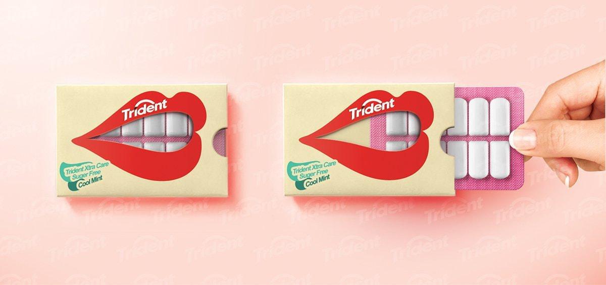Trident gum pop-art example