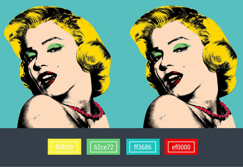 colors used in pop art