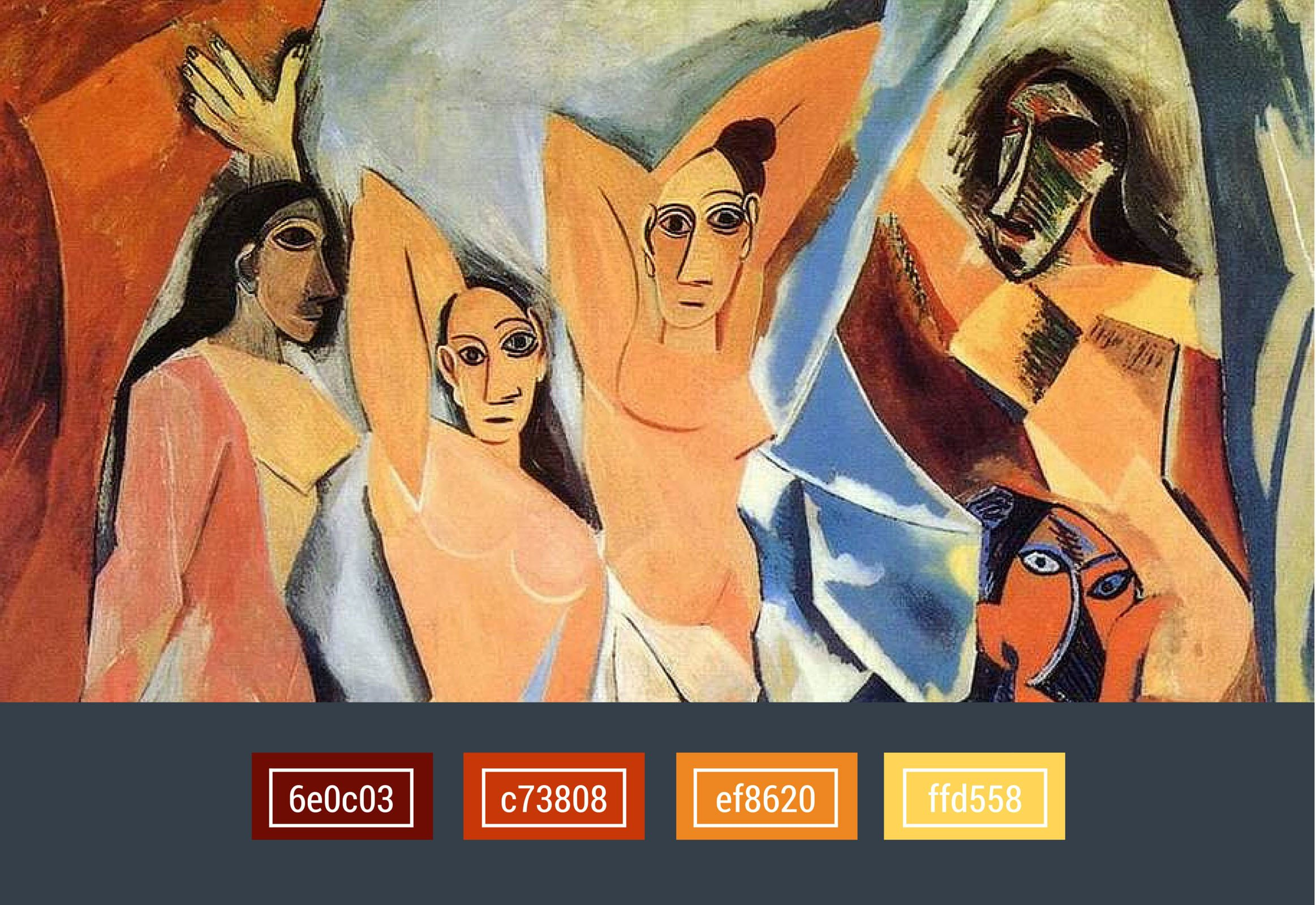 colors used in Cubism