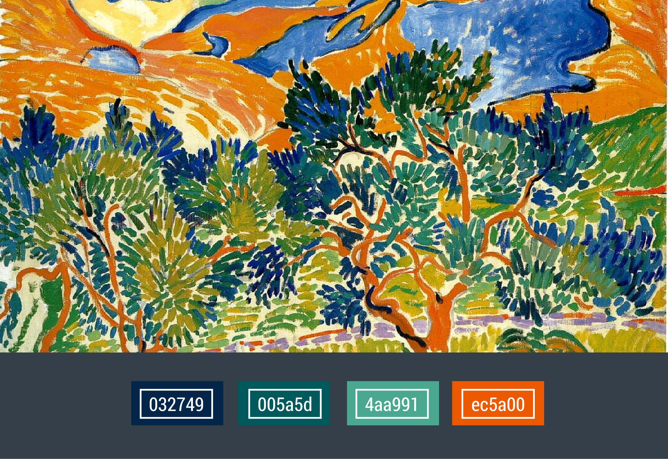 colors used in the Fauvism movement