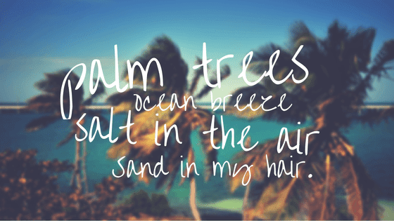 Example of how to use a quote to create a graphic that visually eludes to Summer